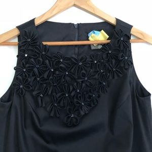 Taylor LBD with flower detail - little black dress